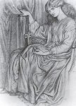 Dante Gabriel Rossetti (1828-1882)  Silence  Pencil on paper, 1870  Public collection